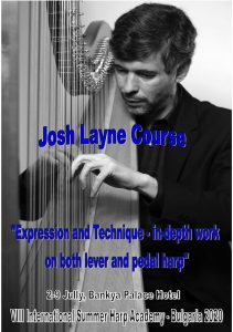 "ISHA 2020 will have every day ""Harp Tuesday"", ask the Canadian virtuoso Josh Layne for any questions or problems you may have"